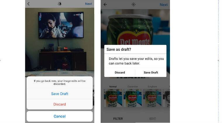 Instagram save drafts option for android ios is now live the instagram instagram drafts feature instagram save drafts how to use instagram drafts instagram ccuart Images