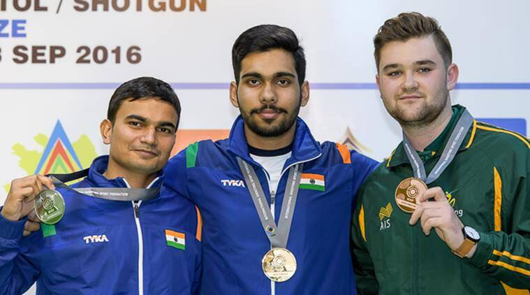 Anhad Jawanda bagged gold, while Gurmeet bagged silver medal in 25m Pistol Men Junior Event. (Source: ISSF)
