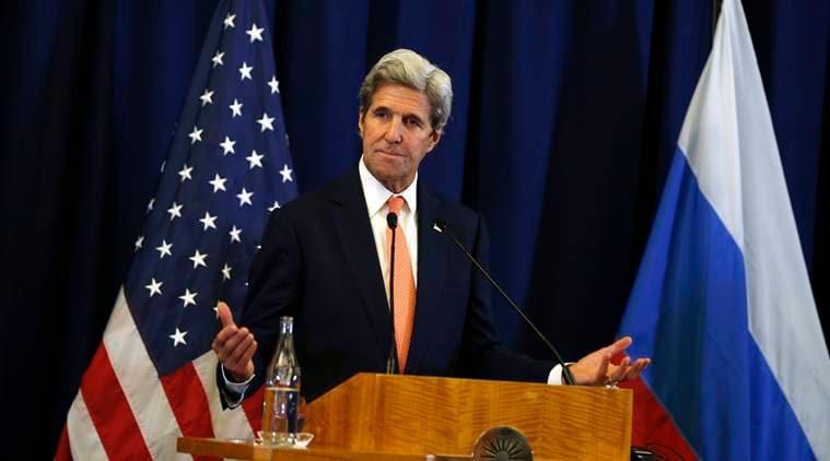 John Kerry, US secretary of State John Kerry, US secretary of state, US russia military partnership, Syria civil war, peace talks, Syrian President Bashar Assad, United States, Russia, US, Syria, world news, Indian express news
