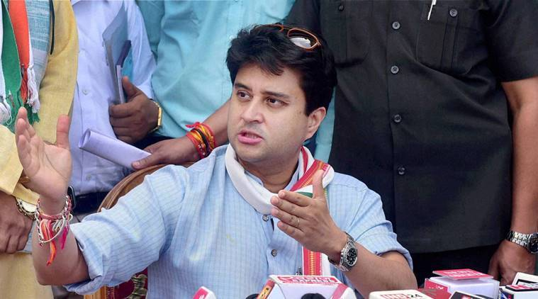 Jyotiraditya Scindia, congress, madhya pradesh, madhya pradesh government, congress madhya pradesh, madhya pradesh news, india news, indian express
