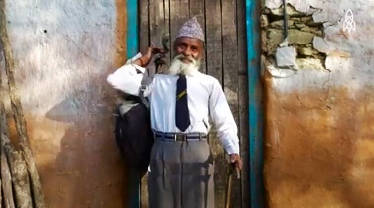 69 year old student, 69 year old nepal school student, inspiration stories on internet, stories on internet that inspire, stories that will inspire, indian express, indian express news