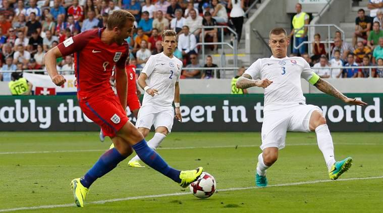 Football Soccer - Slovakia v England - 2018 World Cup Qualifying European Zone - Group F - City Arena, Trnava, Slovakia - 4/9/16 England's Harry Kane misses a chance to score Action Images via Reuters / Carl Recine Livepic EDITORIAL USE ONLY.