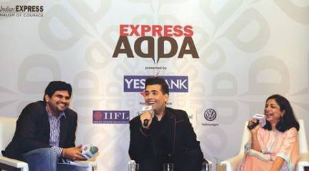 karan johar, director karan johar, karan johar express adda, karan johar movies, karan johar new movies, KJo movies, film maker karan johar, exress adda, indian express karan johar, kuch kuch hota hai, kabhi khushi kabhi gham, my name is khan, baar baar dekho, ae dil hai mushkil, indian express news, entertainment news, india news