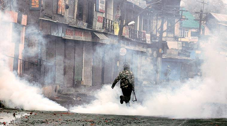 At Safakadal, while most of the injuries to policemen have been caused by stones, over a dozen were hit in a grenade blast.