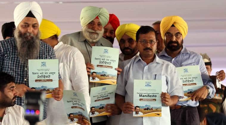 kejriwal, arvind kejriwal, aap, aam aadmi party, aap punjab, aap kisaan manifesto, aap punjab manifesto, punjab news, punjab elections
