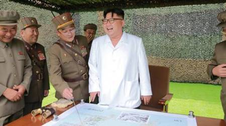 North Korean leader Kim Jong Un provides field guidance during a fire drill of ballistic rockets by Hwasong artillery units of the KPA Strategic Force, in this undated photo released by North Korea's Korean Central News Agency (KCNA) in Pyongyang September 6, 2016. KCNA/via Reuters   ATTENTION EDITORS - THIS PICTURE WAS PROVIDED BY A THIRD PARTY. REUTERS IS UNABLE TO INDEPENDENTLY VERIFY THE AUTHENTICITY, CONTENT, LOCATION OR DATE OF THIS IMAGE. FOR EDITORIAL USE ONLY. NO THIRD PARTY SALES. SOUTH KOREA OUT. THIS PICTURE IS DISTRIBUTED EXACTLY AS RECEIVED BY REUTERS, AS A SERVICE TO CLIENTS.      TPX IMAGES OF THE DAY