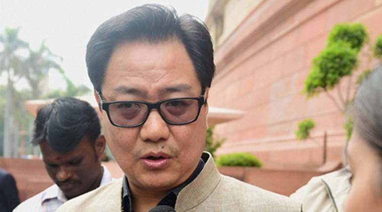 Kiren Rijiju, border infiltration, illegal Bangladeshi, Bangladeshis in westbengal, bangladeshi in Assam, West Bengal, Rajya Sabha, Bangladeshi refugees, NDA government, indian express news