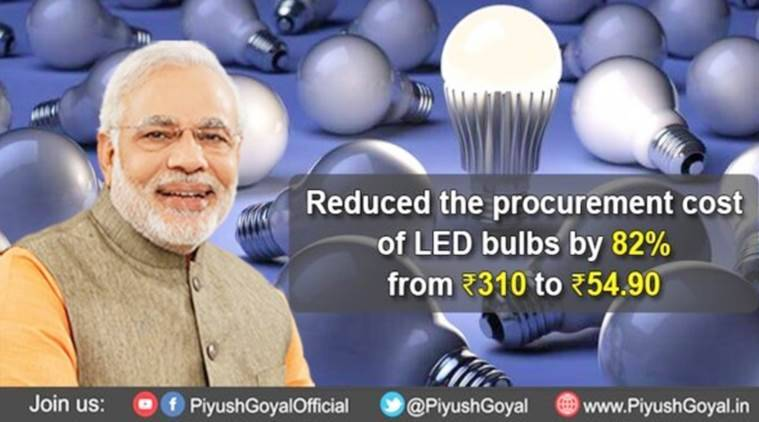 LED bulbs, free LED bulbs, free LED bulbs by government, LED distribution scheme, narendra modi government, india news, indian express,