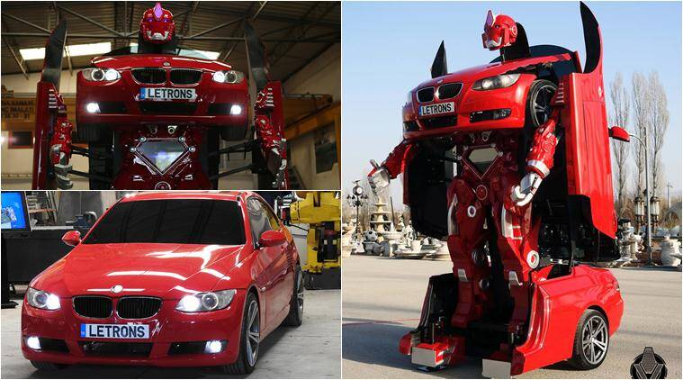 transformer, transformers, transformer film, car turns robot, bmw car transformer, real transformer, car turns transformer, letron, letron transformer car, Letvision, trending news, viral news, latest news, indian express