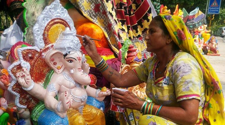 Ganesh Chaturthi 2016, Ganesh Chaturthi Idols, Ganesh Chaturthi idol makers, Ganesh Chaturthi, Ganesh Chaturthi celebrations, Ganesh Chaturthi in India, Ganesh Chaturthi in West Delhi