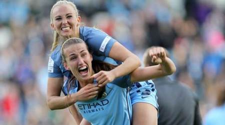 manchester city, manchester city women's super league title, man city womens, man city match score, man city news, manchester city news, indian express, football news,