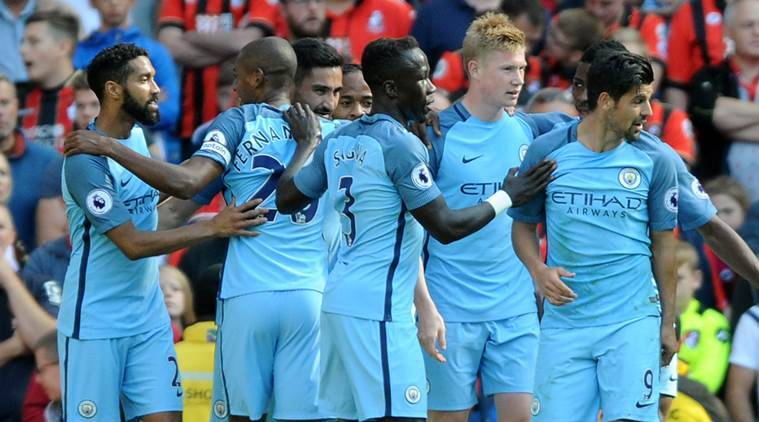 premier league, premier league scores, premier league results, manchester city, macnhester city bournemouth, arsenal, arsenal hull city, leicester, leicester city, kevin de bruyne, alexis sanchez, islam slimani, leicester city burnley, everton, west ham, west bromwich albion, middlesbrough, premier league news, sports news