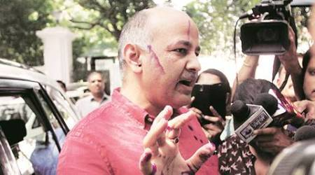 Man held for throwing ink at Delhi's Deputy CM Manish Sisodia outside Raj Niwas