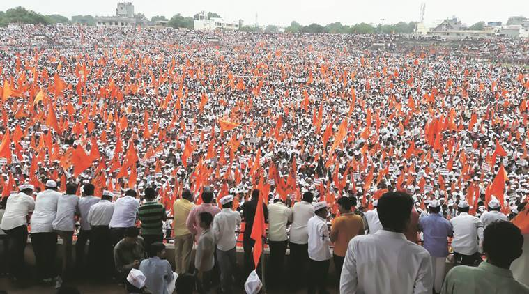 maratha protests, maratha silent protests, marath reservations, muslims reservations, muslim reservation maharashtra, maharashtra protests, kopardi rape case, rape in kopardi, protests against dalits, india news, indian express,