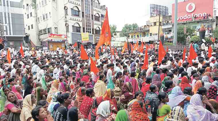 maratha rally, maratha rally in nanded, maratha quota, Maharashtra silent rallies, Devendra Fadnavis, reservation to Marathas, Maratha girl rape murder, maratha outfits, angry maratha outfits protest, maratha protests, kopardi rape, kopardi rape case, maharashtra crimes, schedule tribes, sc st quota, sc, st, dalits, india news, maharashtra news