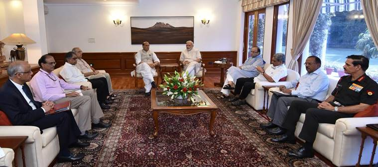 uri, uri attack, rajnath singh, narendra modi, manohar parrikar, arun jaitley, high level meeting, uri attack meeting, uri attack response