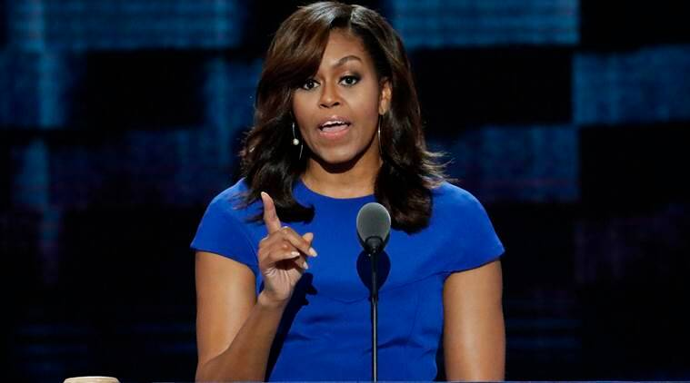 FILE - In this July 25, 2016 file photo, first Lady Michelle Obama at the Democratic National Convention in Philadelphia. The White House says it's looking into a cyber hack that led to what appears to be a scan of first lady Michelle Obama's passport being posted online. The U.S. Secret Service is expressing concern.  (AP Photo/J. Scott Applewhite, File)