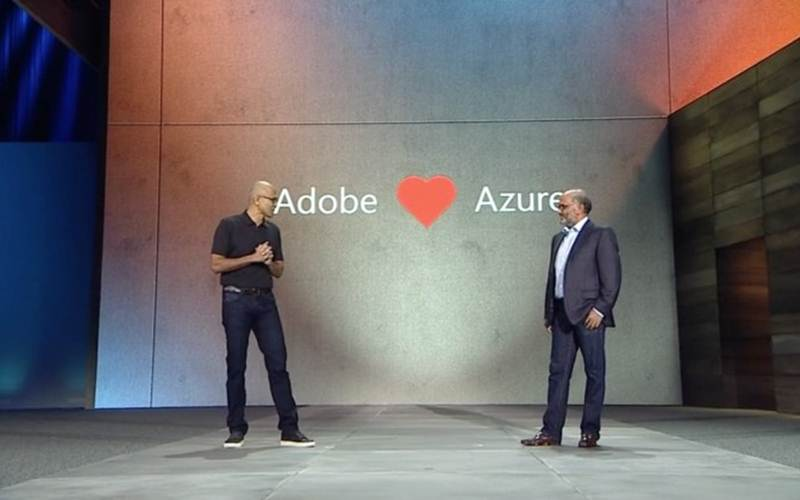 microsoft, adobe, microsoft adobe cloud collaboration, microsoft ignite, ms ignite, microsoft ignite, ms ignite conference, satya nadella, shantanu narayen, tech news, technology