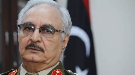 Libya, Libya general, Khalifa Hifter, UN-backed government, Libya political crisis, Libya news, world news, latest news, Indian express