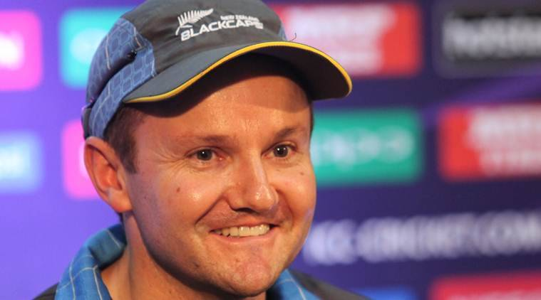 New Zealand head coach Mike Hesson addressing media during a press conference at PCA Stadium in Mohali on Monday, March 21 2016. Express Photo by Kamleshwar Singh *** Local Caption *** New Zealand head coach Mike Hesson addressing media during a press conference at PCA Stadium in Mohali on Monday, March 21 2016. Express Photo by Kamleshwar Singh