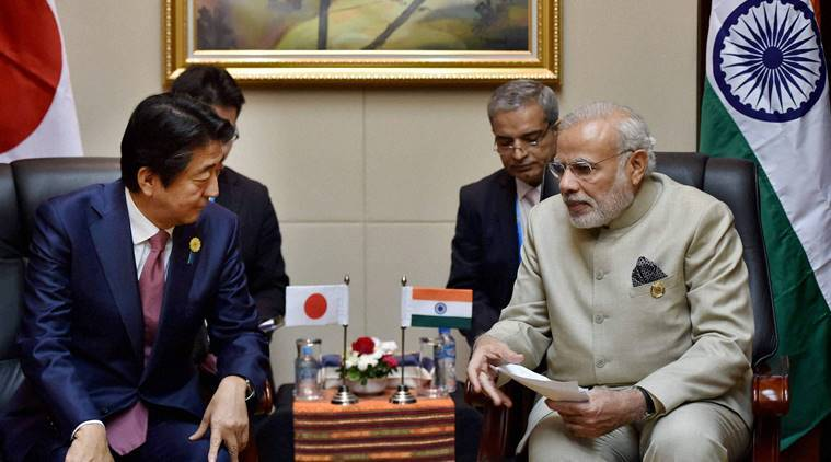 narendra modi, pm modi, modi japan visit, modi shinzo abe, modi japan annual summit, modi abe meet, india japan civil nuclear pact, india news, indian express news