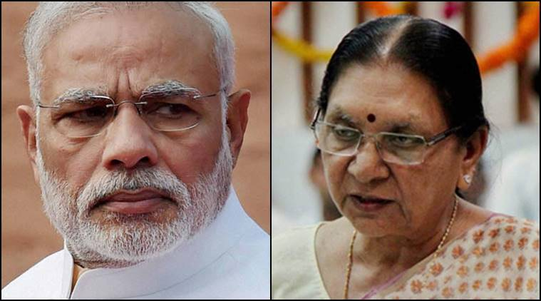Narendra Modi, Modi, PM Modi, Prime Minister Narendra Modi, Anandiben patel, Anandiben, Modi summons Anandiben patel, Pm Modi-Anandiben, Former Gujarat Chief Minister, Former Gujarat CM Anandiben Patel, Amit Shah, BJP, BHP president Amit shah, rally, BJP Rally, BJP rally surat, Patidars, Gujarat Patidats, Patidar community, Gujarat patidars, Gujarat news, india news, latest news, indian express news