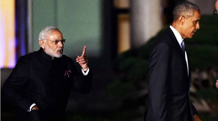 Modi G-20 Summit, Modi Obama photo, G-20 Summit, G-20 Summit China, G-20 Summit Hangzhou China, G-20 Summit Modi Obama, G-20 Summit in China, Modi and Obama photo from Summit, Modi viral photos, Modi Obama Virall photos, Indian express, Indian express news