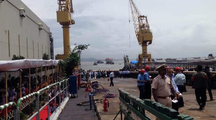 Mormugao, indian navy, missile destroyer ship, mumbai ship launch, Mormugao launch, Mormugao ship launch, Indian Navy, Indian navy Project 15B, india news, indian express news