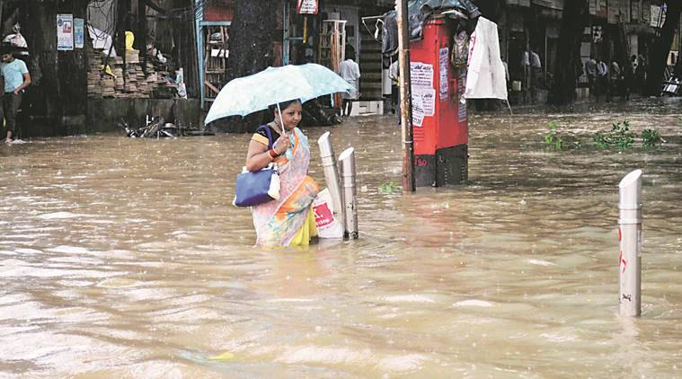 mumbai, mumbai rain, mumbai waterlogging, mumbai rainfall, mumbai weather, monsoon mumbai, mumbai news, indian express news