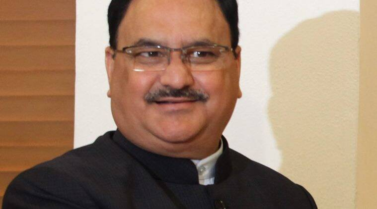jp nadda, union health minister, indian express