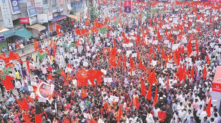 kopardi rape case, maratha protests, maratha protest rally, maratha rally in ahmednagar, maratha protest congress, india news, indian express,