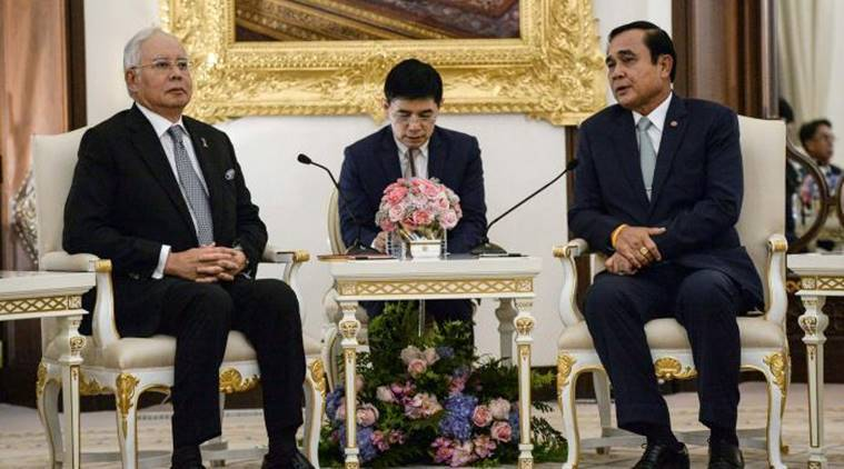 Thailand, Malaysia, Thailand border, border walls, security walls, Thailand-Malaysia, border security, trafficking, smuggling, Prayuth Chan-ocha, Thailand Pm Prayuth Chan-ocha, Malaysian PM Nazib Razak, World news, indian express news