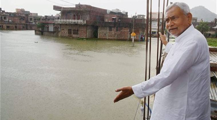 bihar floods, flood damage, bihar flood damage, central team, central team visit, centre help, bihar CM, bihar chief minsiter, repair damage, india news, indian express