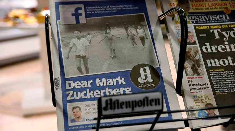 norway, facebook, morway freedom of speech, napalm girl, Nick Ut, napalm attack girl, facebook nude photo policy, facebook protest, facebook photo policy, fb nude photo policy, fb photo policy, world news, indian express