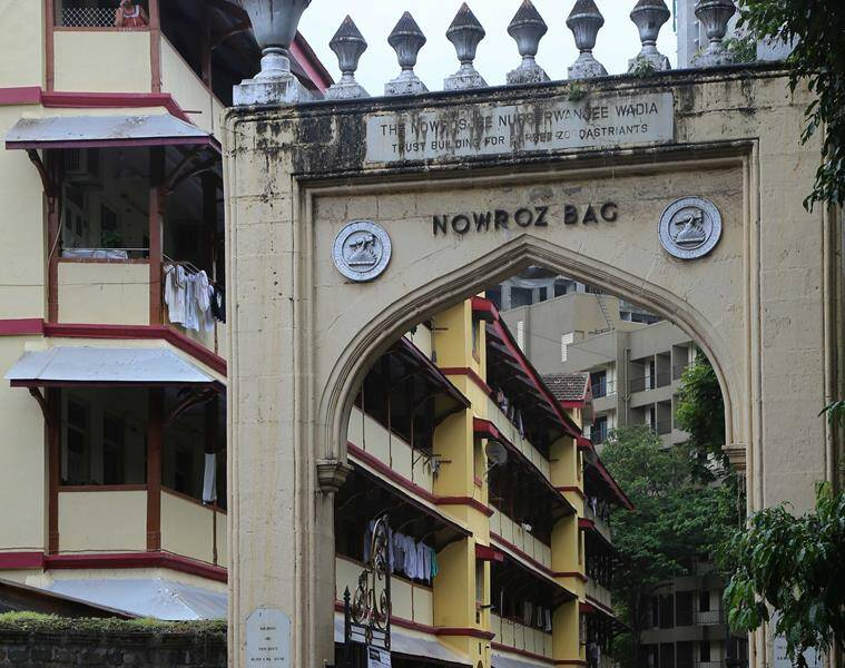 Nowroz Bag, a Parsi colony in Lalbaug. (Express photo by Nirmal Harindran)