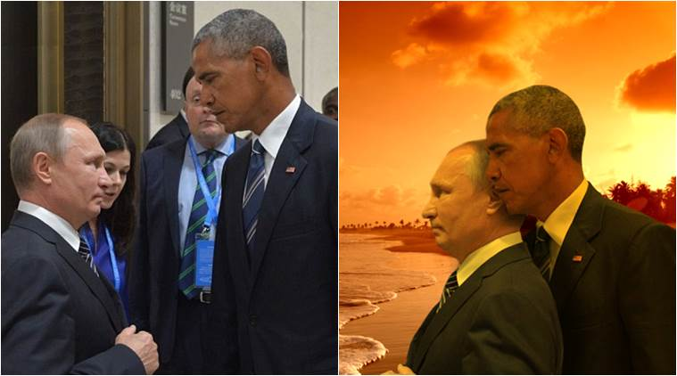 This Barack Obama Vladimir Putin G20 Summit Death Stare Sets Off Epic Photoshop Battle Trending News The Indian Express