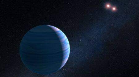 NASA, hubble, hubble telescope, OGLE-2207-BLG-349, planet orbiting two stars, space telescope, kepler probe, astronomy, astronomy news, science news, indian express