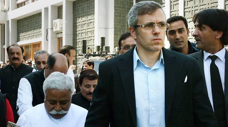 Omar abdullah, kashmir news, kashmir, demonetisation, currency ban, omar abdullah on demonetisation, oppposition protests demonetisation, indian express, india news