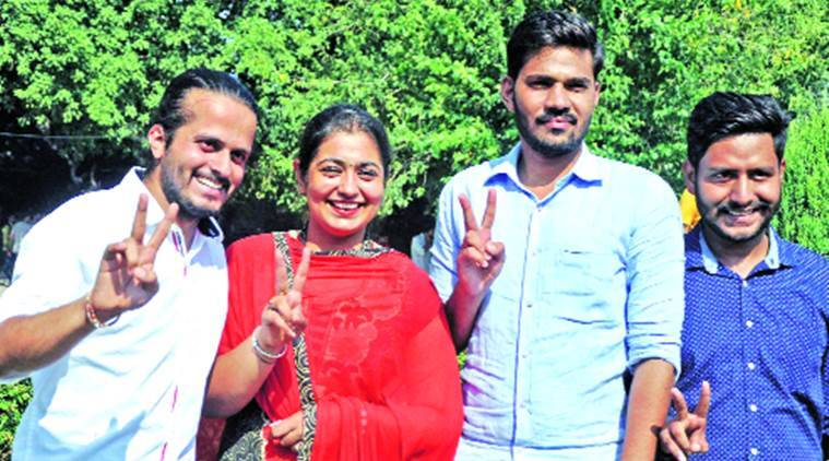 chandigarh, chandigarh news, punjab, punjab news, panjab university, panjab university newly elected students council, new students council elected panjab university, indian express, india news