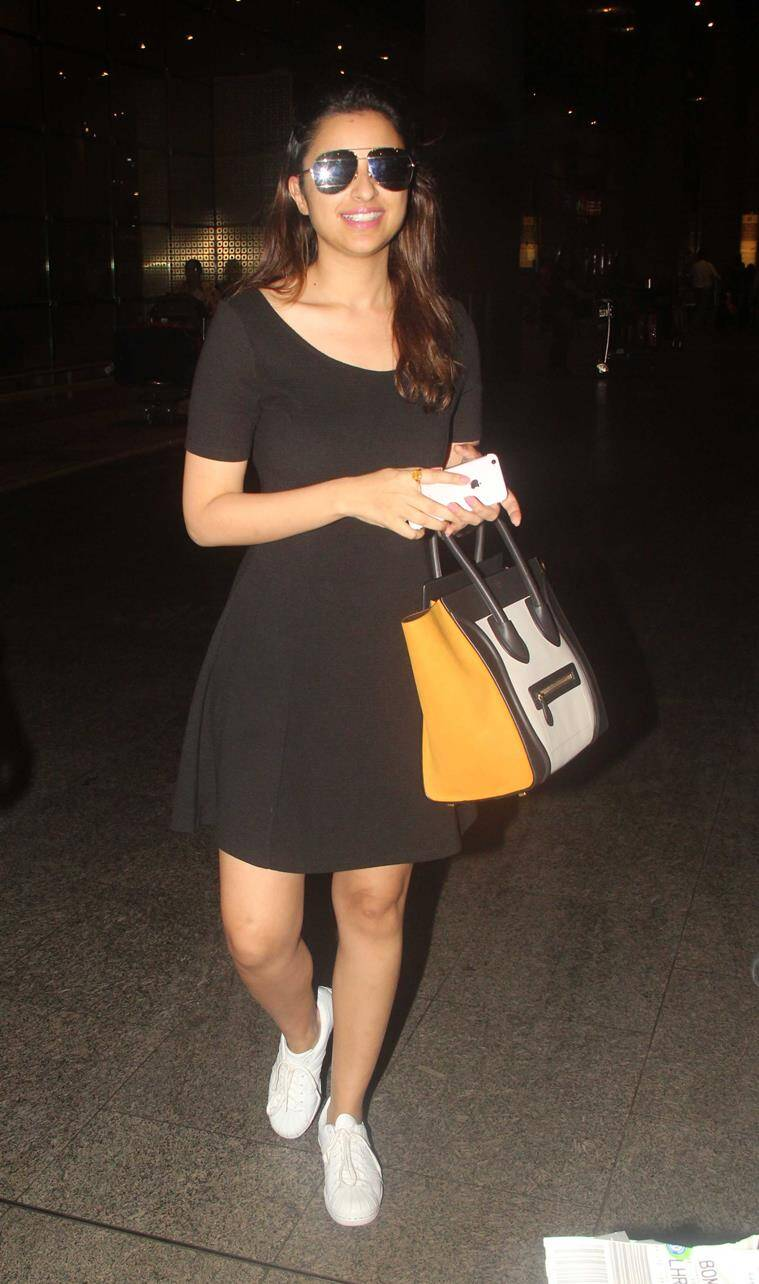 Parineeti Chopra in a cute LBD. (Source: Varinder Chawla)