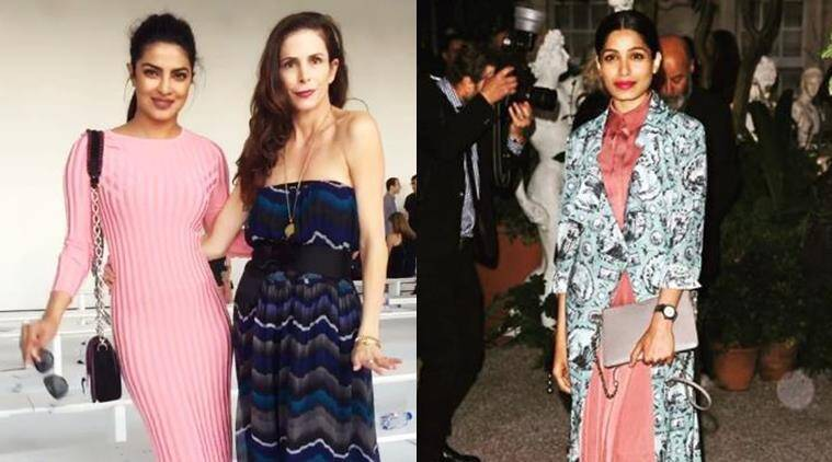 Both Priyanka Chopra and Freida Pinto are acing front row fashion. (Source: Instagram)