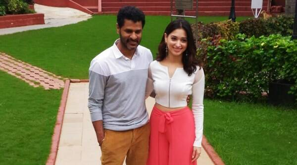 Prabhu Deva and Tamannah Bhatia. (Source: Express)