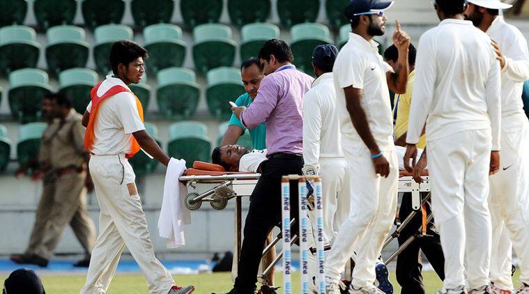 pragyan ojha injury, ojha injury, Duleep Trophy 2016 cricket, pragyan ojha hit on the head, ojha hit on the head, pragyan ojha, ojha, ojha duleep trophy, pragyan ojha duleep trophy, duleep trophy updates, duleep trophy news, india cricket, india domestic cricket, cricket news, sports news