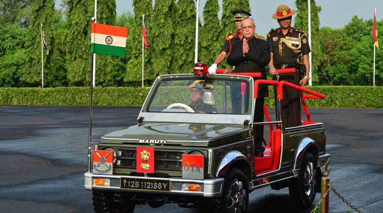 the Passing Out Parade of Summer term at the Officers Training Academy, Chennai. (Source: Twitter/@RashtrapatiBhvn)