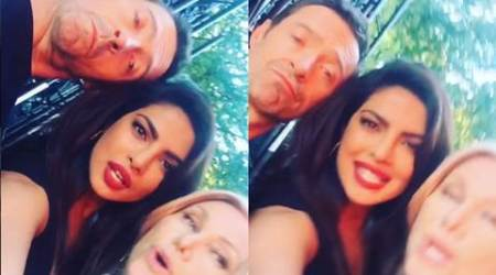Priyanka Chopra rocking out with Hugh Jackman, wife at NYC Global Citizen Festival