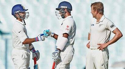 India vs New Zealand, 2nd Test: Visitors hit back after Cheteshwar Pujara-Ajinkya Rahane fifties on Day 1