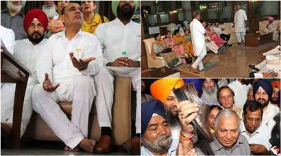 Punjab, punjab shoe, tarlochar singh, news, congress mla, vidhan sabha, punjab assembly, Madan Mohan Mittal, Mittal, Punjab assembly shoe, Shoe photos, Punjab assembly photos, indian express photos