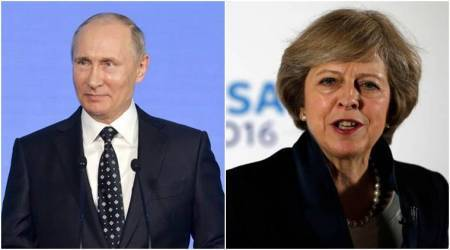 G20 Summit, Theresa May, Vladimir Putin, May Putin meeting, British Russia ties, Britain Russia ties, world news, Indian Express