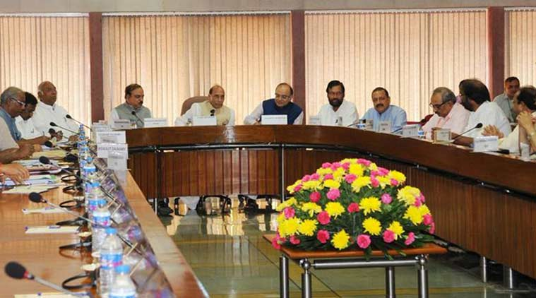 Home Minister Rajnath Singh chairing the all-party meet in New Delhi, Wednesday. (Source: PIB)