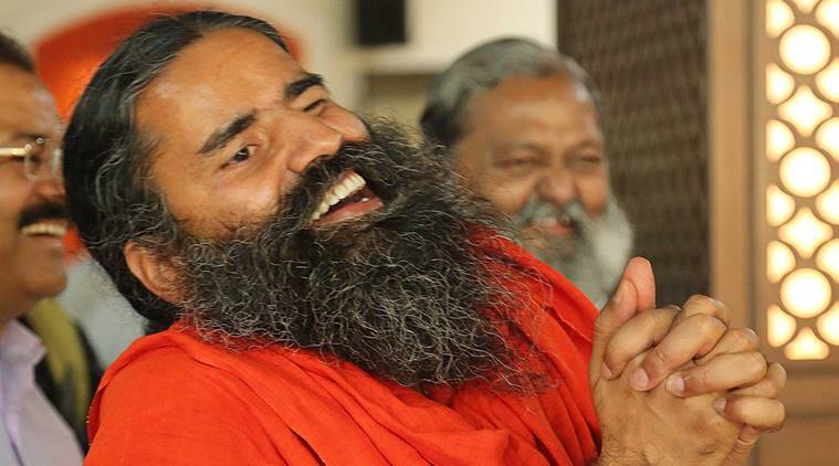 Yoga Guru and founder of Patanjali Baba Ramdev. Express Photo by Kamleshwar Singh
